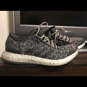 Pure boost grey adidas 10 men used